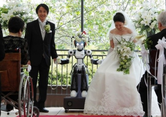 I-Fairy свадьба с роботом